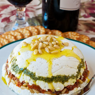 Goat Cheese, Pesto and Sun-Dried Tomato Terrine