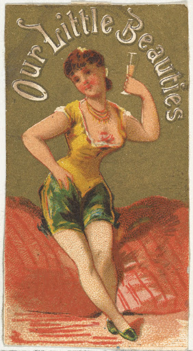 From the Girls and Children series (N58) promoting Our Little Beauties Cigarettes for Allen & Ginter brand tobacco products