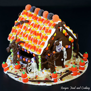 Halloween Chocolate Gingerbread House with Dixie Crystals