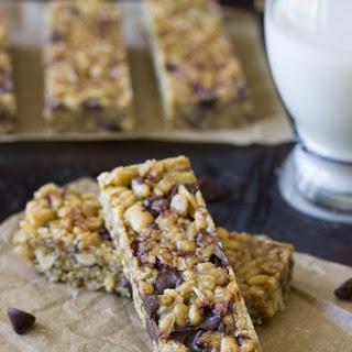 5 Ingredient No-Bake Chocolate Peanut Butter Protein Bars.