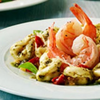 Garlic Shrimp With Three Cheese Tortellini.