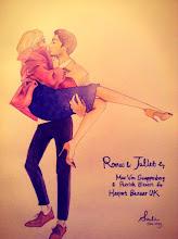 Photo: Romeo & Juliet by Harper's Bazaar UK Oct. 2013 / F8 paper, watercolor, pencil