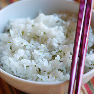 CILANTRO AND LIME RICE.
