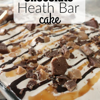 Chocolate Heath Bar Cake