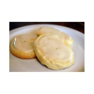Key Lime Macadamia Nut Cookies With White Chocolate Glaze
