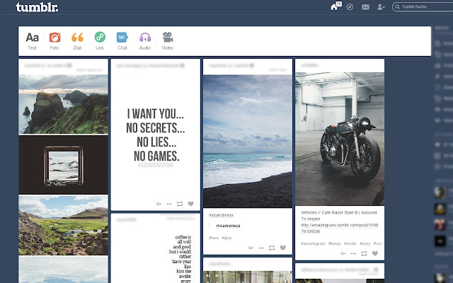 Tumblr - Tiled Dashboard