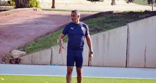 José Gomes en el entrenamiento del equipo rojiblanco.