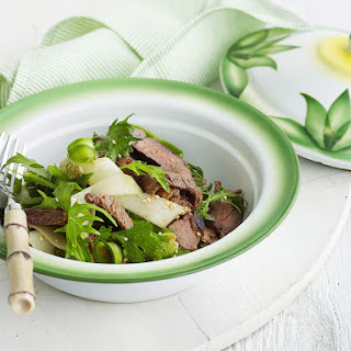 Japanese-Style Seared Beef with Asian Greens