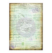 Prima Finnabair Mixed Media Tissue Paper 27.5X19.7 6/Pkg - Musica