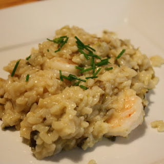 Leek and Onion Risotto with Shrimp
