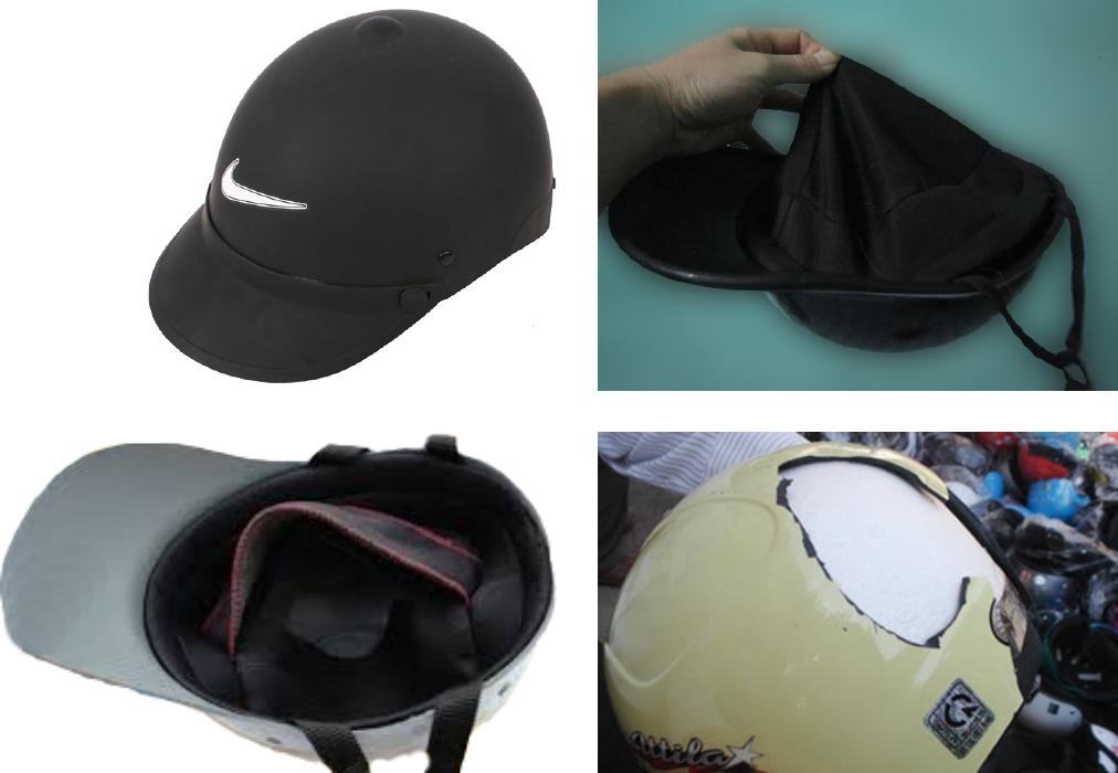 Một chiếc nón kém chất lượng