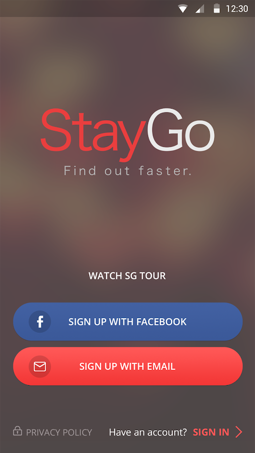 StayGo - Find out faster – Capture d'écran