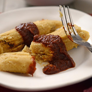 Brisket Tamales with Red Chile Sauce