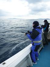 Photo: 初乗船のドイさん!