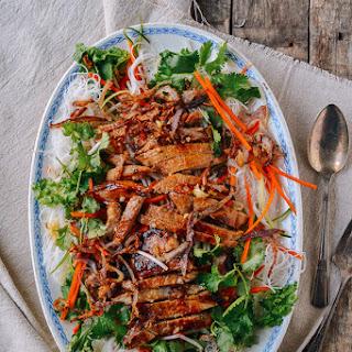 VietnameseNoodle Salad with Grilled Pork Chops.