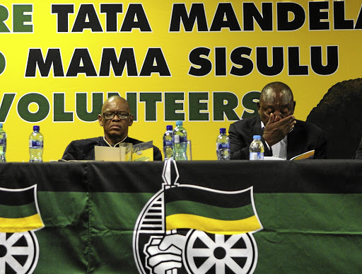 Ace Magashule and President Cyril Ramaphosa during the ANC's Manifesto Consultative Workshop in Centurion.