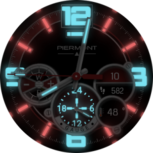 Piermont Gauge SmartWatch Face- screenshot thumbnail