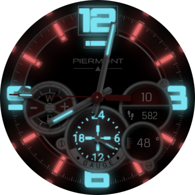 Piermont Gauge SmartWatch Face- screenshot