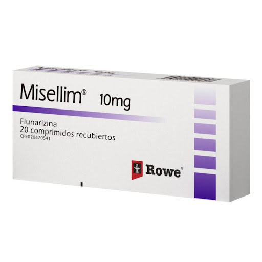 Flunarizina Misellim 10 Mg X 20 Comprimidos Rowe 10 mg x 20 Comprimidos