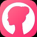 Female menstrual calendar, ovulation, pregnancy icon