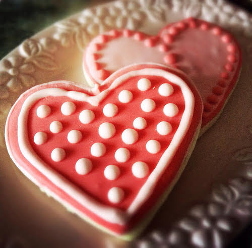love cookies, decorated cookies, rolled cookies, recipe, royal icing, valentines day