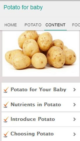 android Potato for Baby Screenshot 2