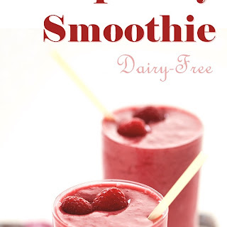Coconut Raspberry Smoothie.