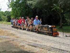 "Photo: The ""Dennis"" train at Caliente with Dennis Profota and Dennis Cranston.   HALS Public Run Day  2016-0716  RPWhite"