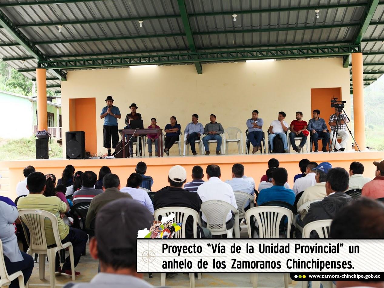 """PROYECTO """"VÍA DE LA UNIDAD PROVINCIAL"""" UN ANHELO DE LOS ZAMORANOS CHINCHIPENSES"""