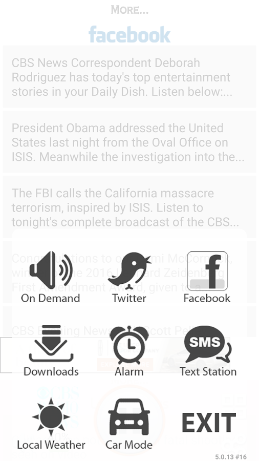 CBS Radio News- screenshot