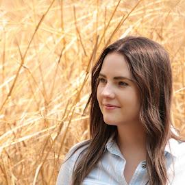 Grasslands Beauty  by Stefan Klein - People Portraits of Women ( beauty, grass, lady, people, posing,  )