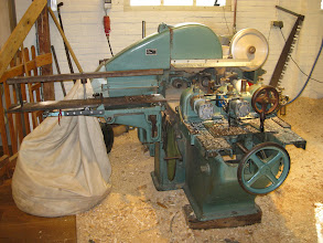 Photo: Machine that carves the shoes. When it was done by hand, a pair would take several hours, and you had to apprentice for five years before you were considered a shoemaker.