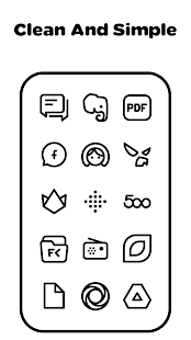 Squircle Lines Black - Icon Pack - náhled