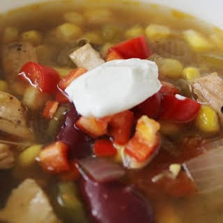 Southwest Black Bean Chicken Soup.