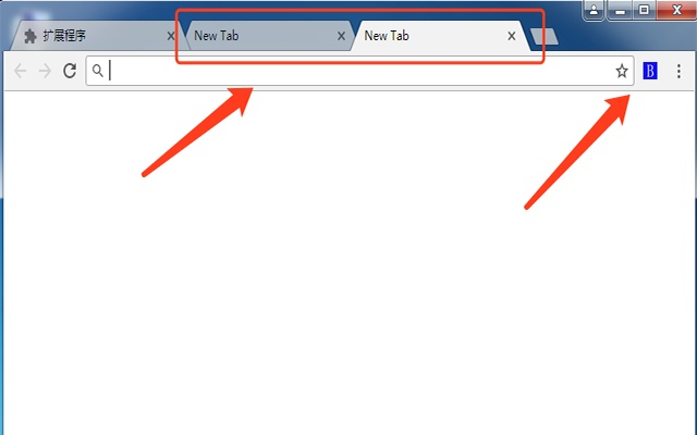 Blank new tab