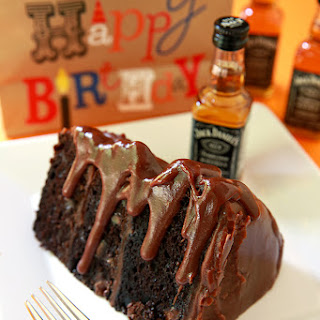 Chocolate Cake with Jack Daniels Fudge Icing.