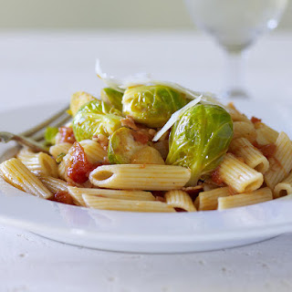 Penne with Brussels Sprouts and Ragu.