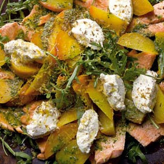 Confit Trout Salad With Golden Beetroot And Ricotta