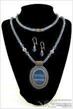 Photo: Set with Blue Banded Stone - Гарнітур з синім стрічковим каменем