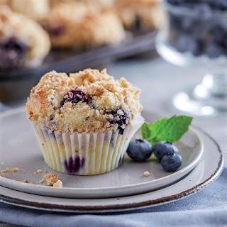 Gluten Free* Blueberry Streusel Muffins.