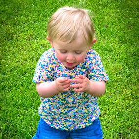 Amber by Craig Payne - Babies & Children Toddlers ( grass, happy, baby, fun, flowers )