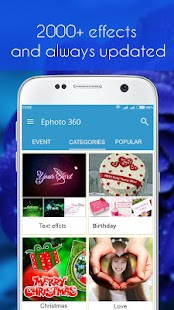 Ephoto 360 - Photo Effects- screenshot thumbnail