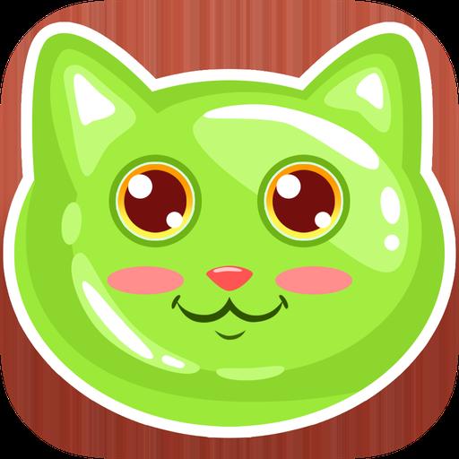 果冻猫--滚和下落 街機 App LOGO-APP試玩