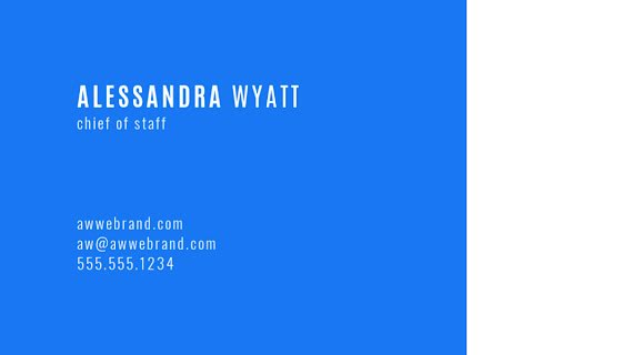 Wyatt Chief of Staff Back - Business Card Template