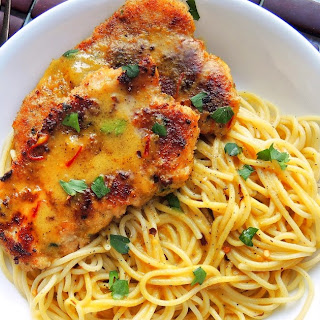 Chicken Scallopini with Saffron Cream Sauce