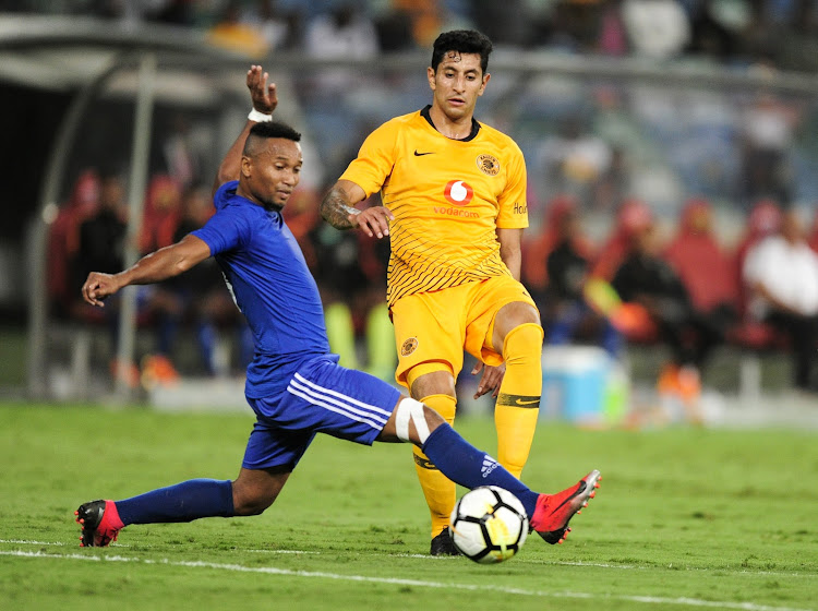 Kaizer Chiefs' Colombian striker Leonardo Castro (R) scored two goals to steer Amakhosi to a 3-0 win.