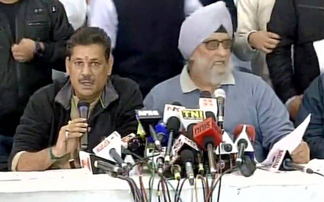 Kirti Azad (left) and Bishen Singh Bedi