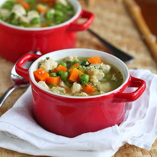 Light Chicken, Quinoa & Vegetable Soup.