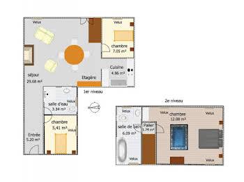 Appartement 4 pièces 75,45 m2