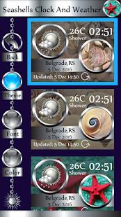 Seashells Clock And Weather - náhled